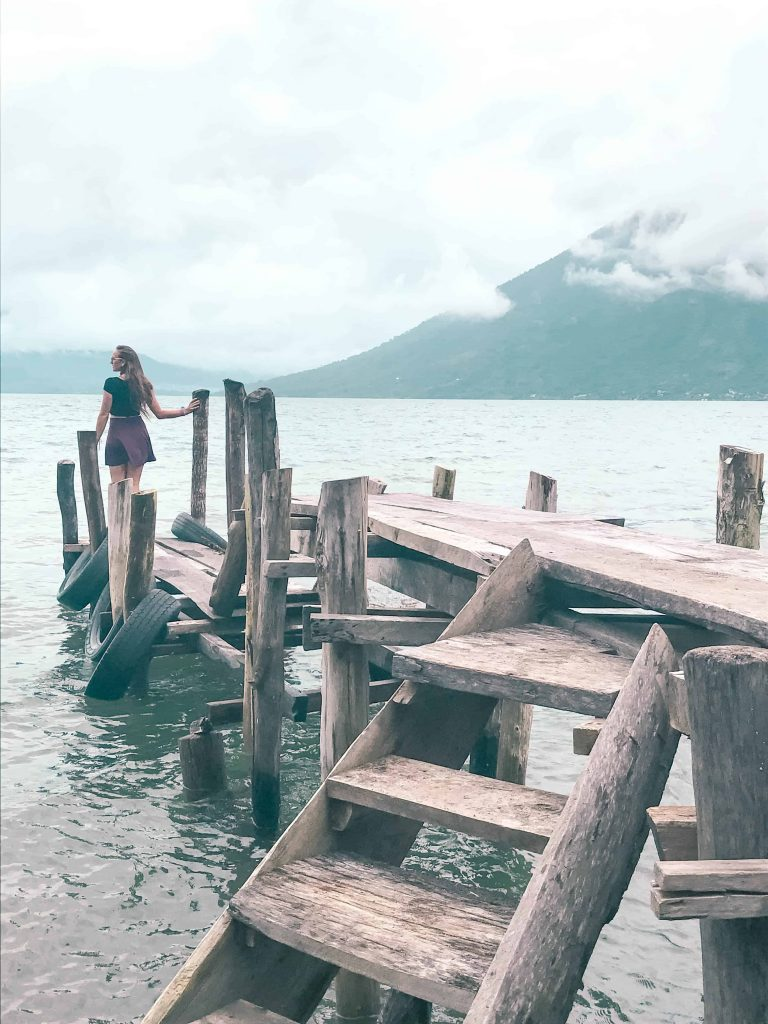 the crooked docks of lake atitlan