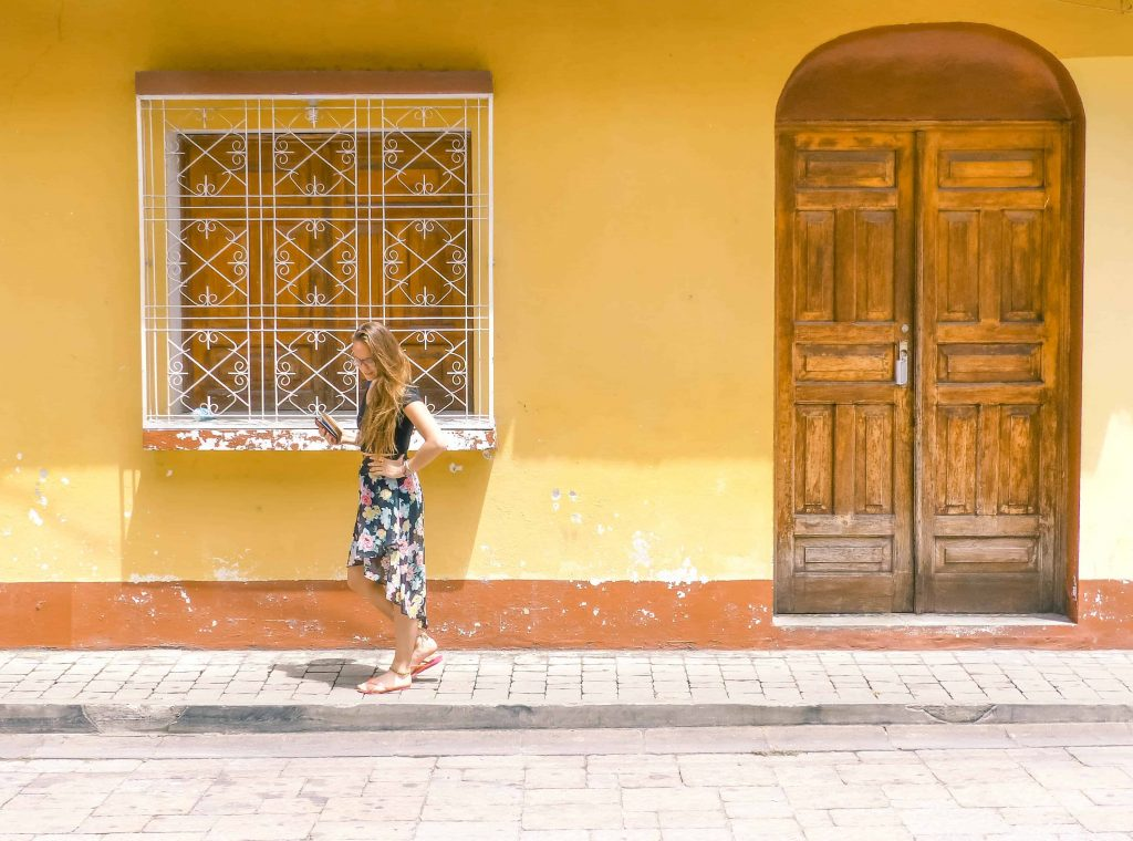 the colourful streets of Flores Guatemala