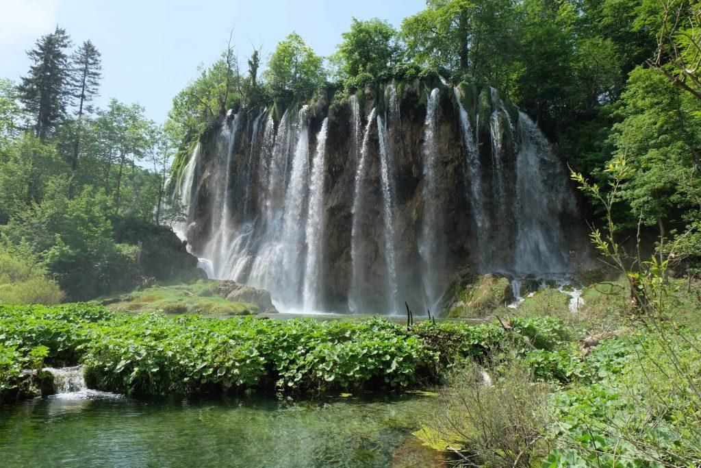 hiking around the plitvic lakes in croatia