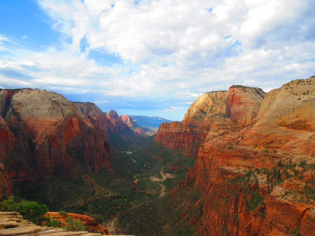 hiking in zion national park in utah