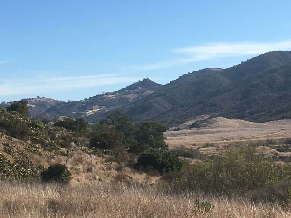 Hiking the mountains in santa monica california