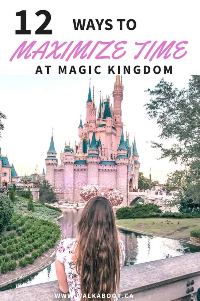 Walt Disney world is one of the busiest places in the world. When you visit you will want to be able to get the most out of your Disney days. These 12 tips to help maximize time at Magic Kingdom can actually make your day SO MUCH BETTER! Don't forget to save this pin to your board so you don't have to find it later and have a better time at Walt Disney World resort in Orlando Florida. #waltdisneyworld #magickingdom #disneytips #disneytripplanning
