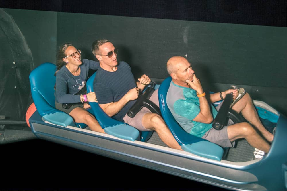 riding on space mountain in Magic Kingdom at Walt Disney World resort in orlando florida at night to maximize time at Magic kingdom