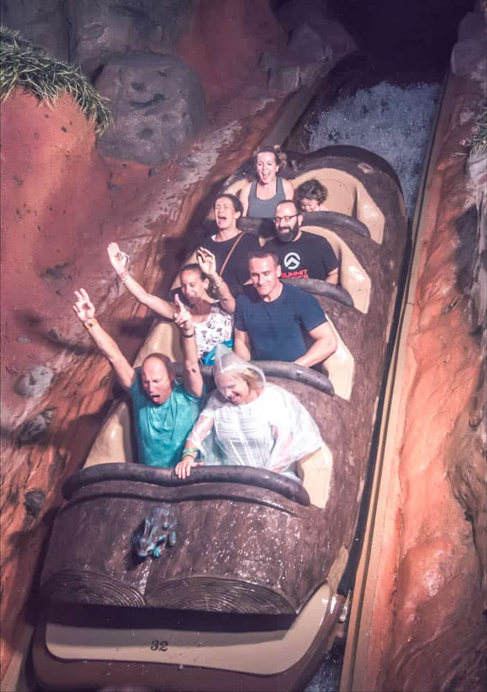riding splash mountain in frontierland in the magic kingdom at walt disney world resort