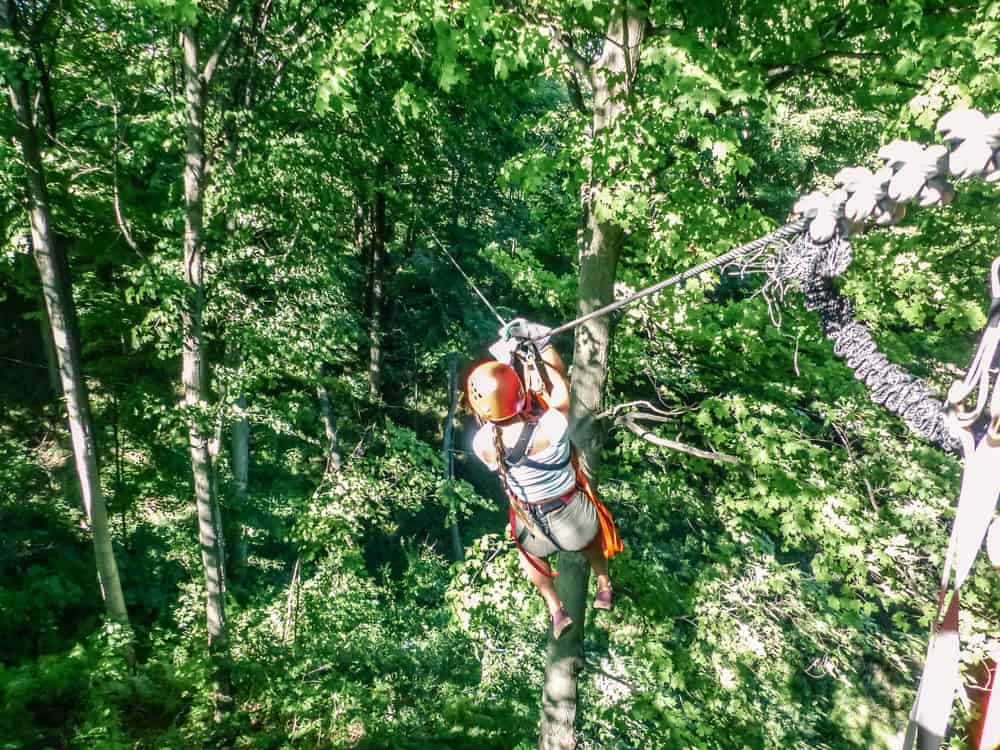 adventure travel in ontario zip lining at long point eco