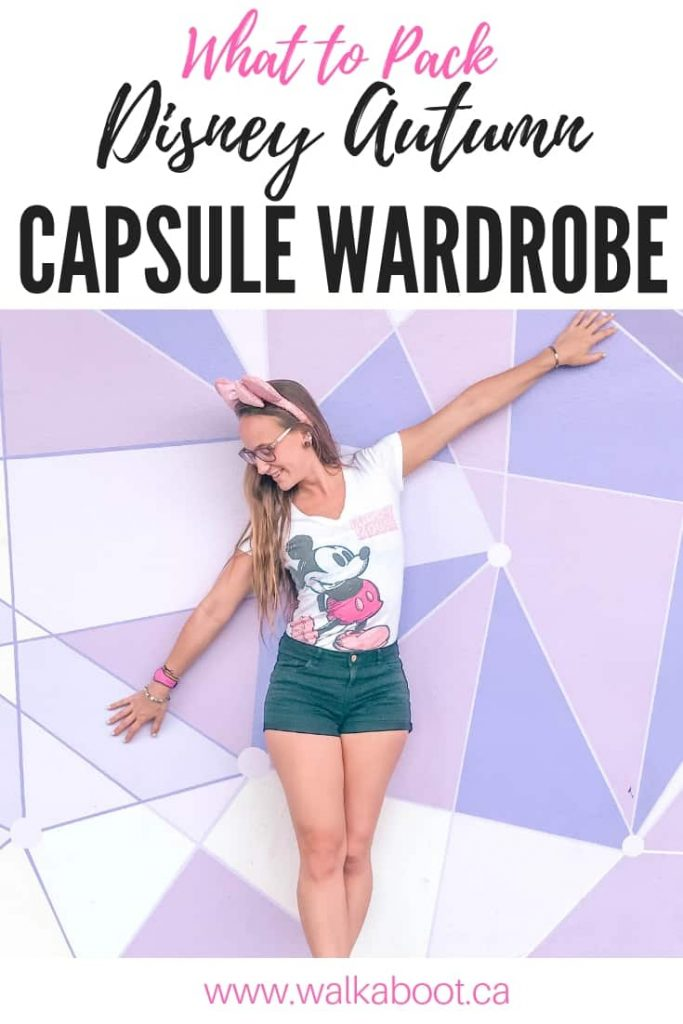 Disney autumn capsule wardrobe