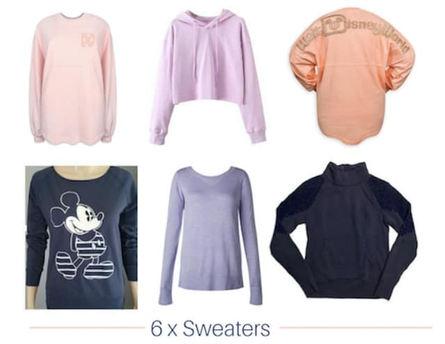 sweaters in disney autumn capsule wardrobe
