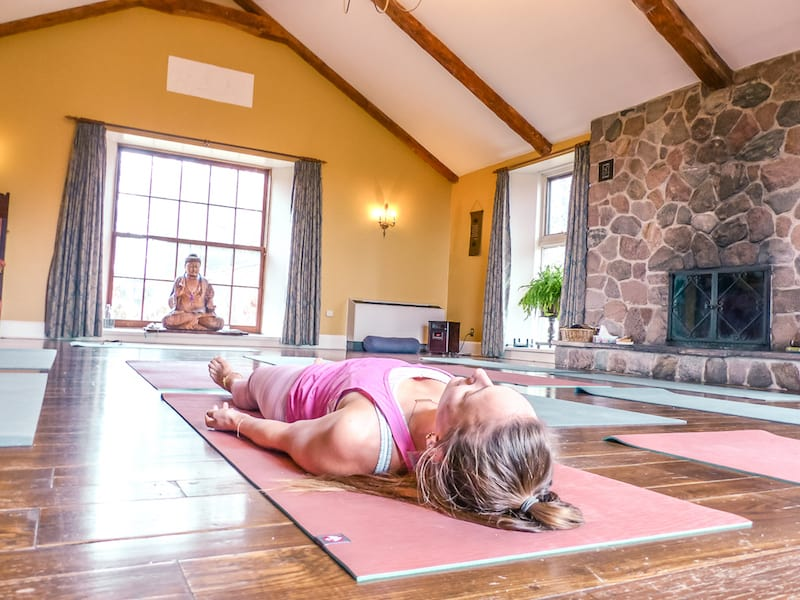 yoga wellness class at Ste. Anne's Spa in Grafton Ontario