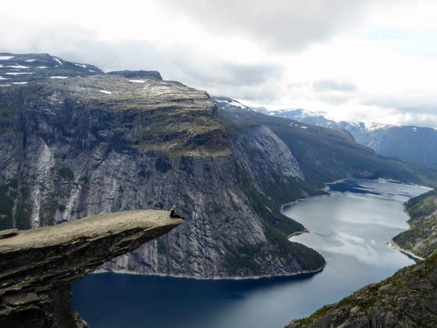 Trolltunga, Norway: Taking a seat on the Trolls Tongue!