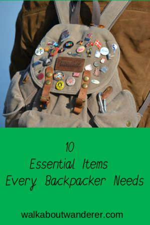 10 essential items for backpackers by travel blogger Walkabout Wanderer Keywords: Backpack, Travel, traveller, suitcase, products, things great items, travel blogger.