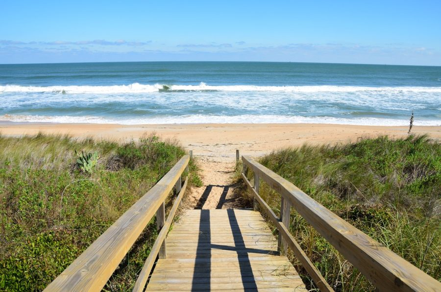 Walking the plan: Boardwalk between Vila Nova de Gaia and Espinho, Portugal.