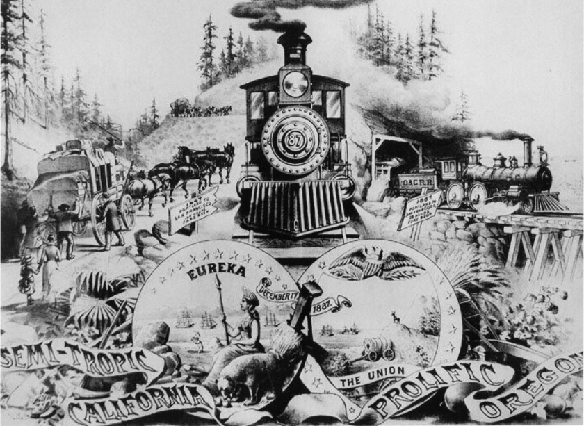 Ashland, railroad, Golden Spike, Southern Pacific