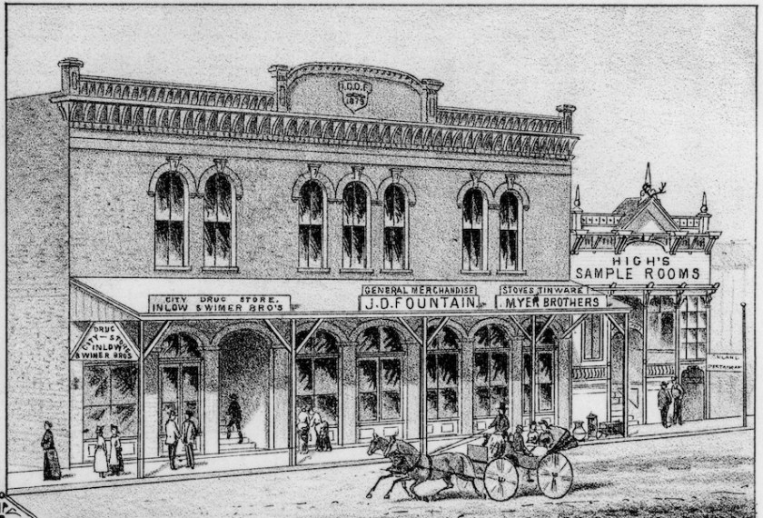 Ashland history, Ashland I.O.O.F. building in 1883