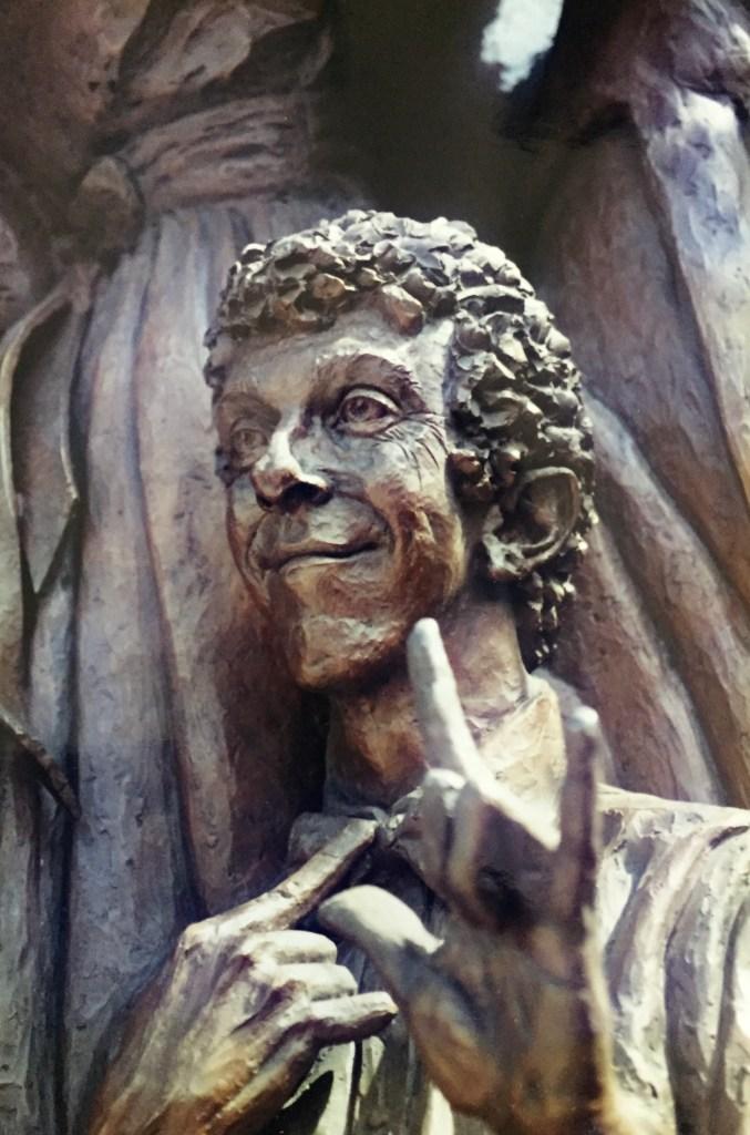 Robert Barnett in the Street Scene sculpture