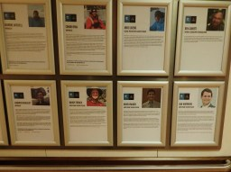 Our bios on the main deck of the ship