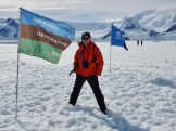 Standing on the fast ice of Wilhelmina Bay