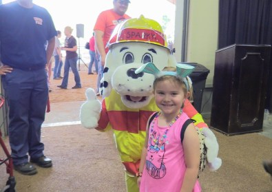 Sparky the Fire Dog and a Friend