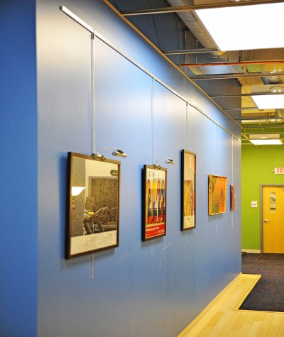 Picture Hanging System at St. Lukes