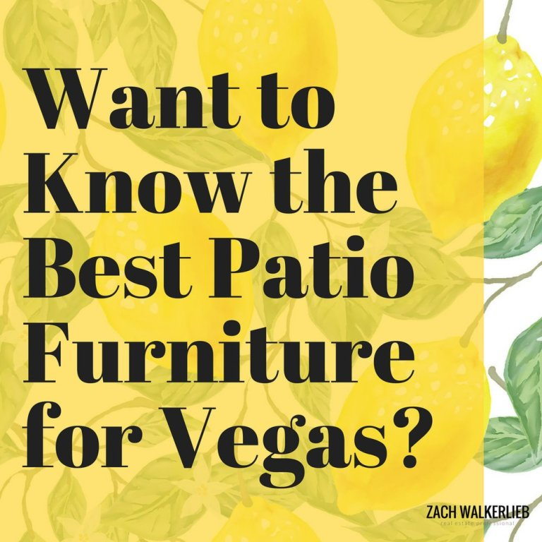 Best Patio Furniture for Vegas