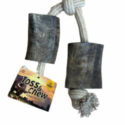 Toss & Chew Buffalo Horn Rope Toy