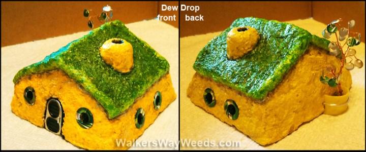 Papercrete Dew Drop Fairy House