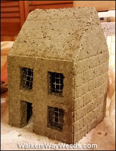 OJ molded papercrete house
