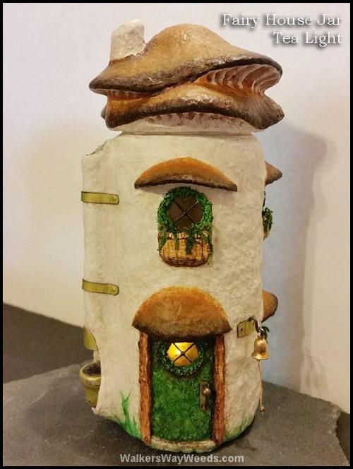 Fairy House Jar Tea Light