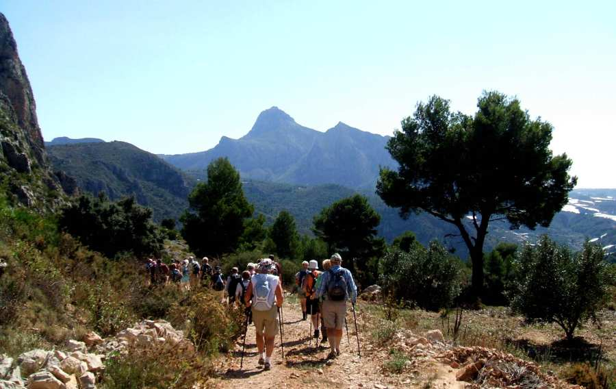 Guided walking holidays, walking group Castells de Castells