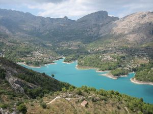 The Guadalest reservoir