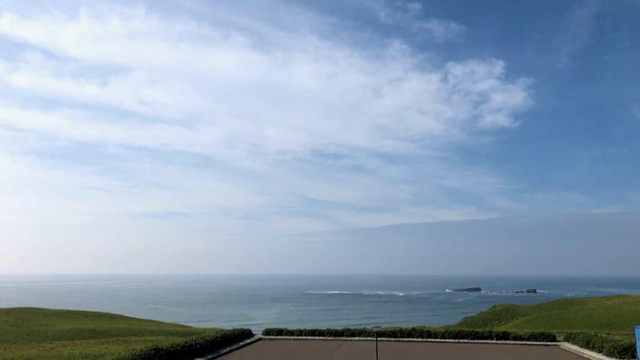 琵琶瀬展望台からのぞむ太平洋
