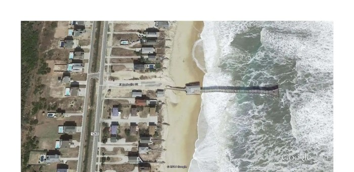 Outer Banks pier - Google Earth