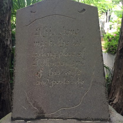 Foreigner's tombstone