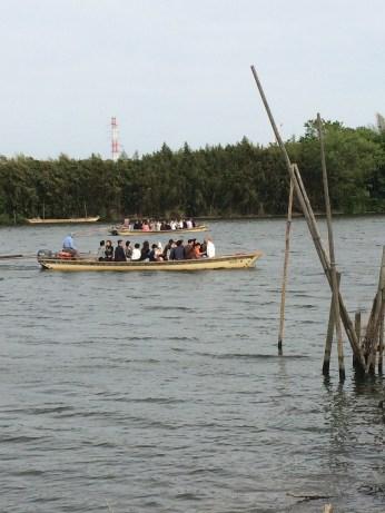 Yagiri-no-watashi crossing boats in Shibamata