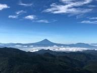 Mt. Fuji from the viewpoint near Asahidake Mountain