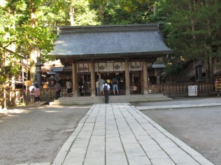 The Gate in front of the front shrine in Hon-Miya of Suwa Taisha