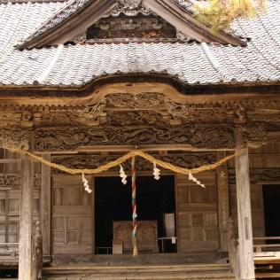 Main Hall of Ushio Jinja Shrine