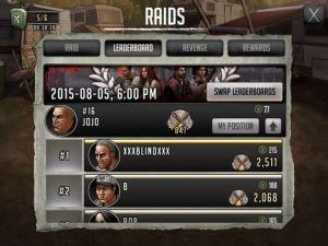 The Walking Dead - Raids Leaderboard