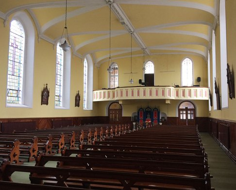 Interior of the Church of the Holy Trinity, Durrow, Co. Laois.