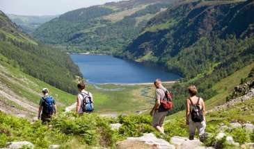 Hiking the Wicklow Way above Glendalough