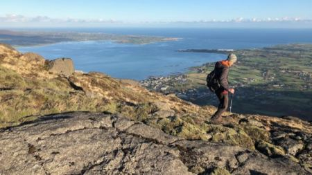 Hiking Tour in Ireland on Slieve Foye above Carlingford