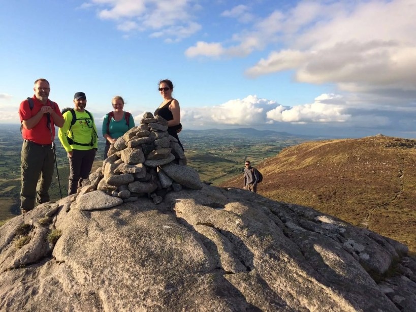 Hikers on Hen Mountain in the Mournes, Northern Ireland