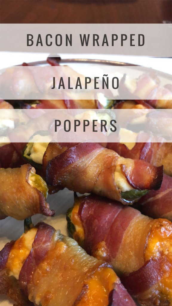 Keto friendly snacks - Bacon Wrapped Jalapeno Poppers
