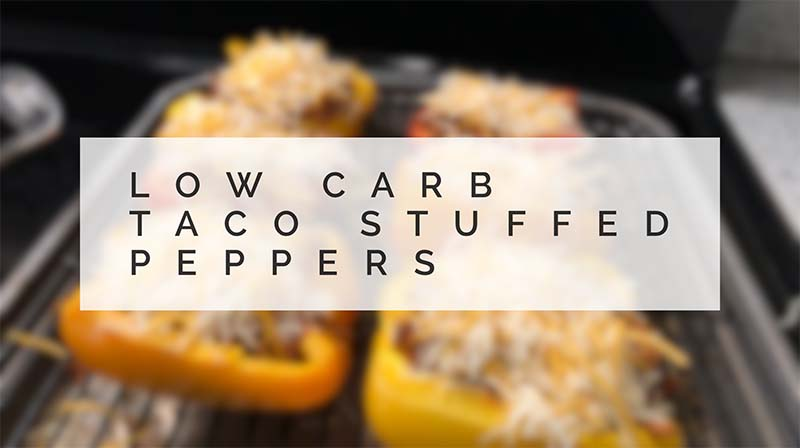 low carb (keto) taco stuffed peppers