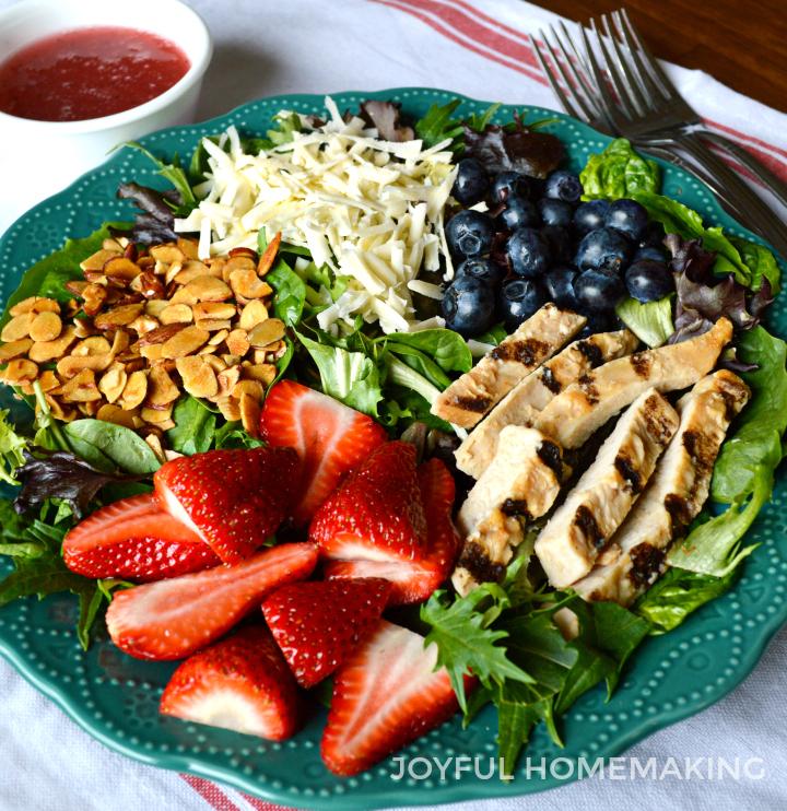 Berry Almond Chicken Salad from Joyful Homemaking