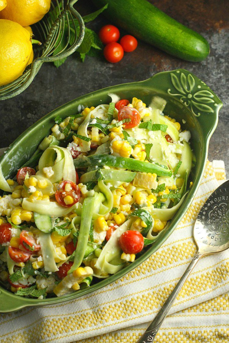 Zucchini Corn Salad from A Dish of Daily Life