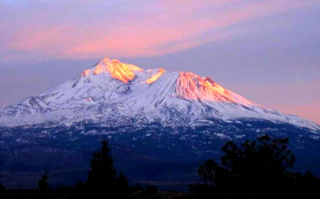 Mount Shasta Ascension Capitol Golden Rays of Light