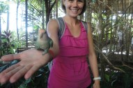 Family trip to Ocean World, complete with birds eating off my hands!