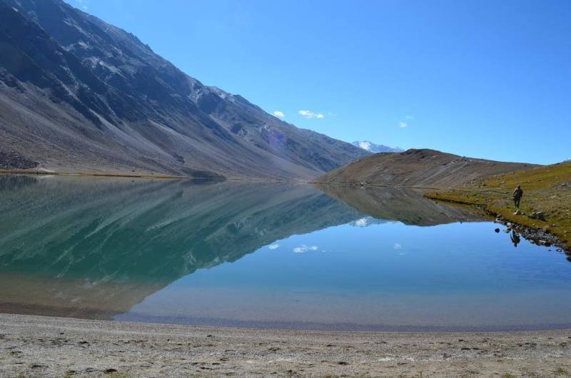 chandratal lake in himachal pradesh