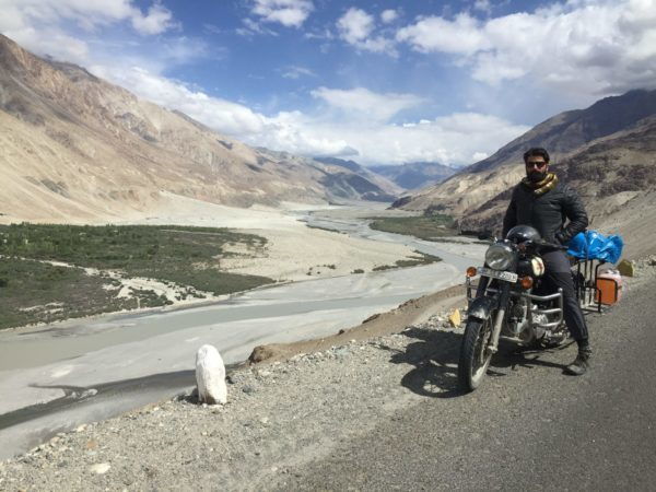 rented bike from manali