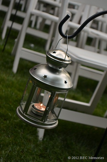 Wedding Pictures - Lantern for row markers